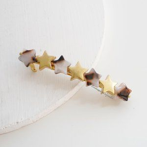 Madewell Acetate Star Beads Barrette in Shell Tort